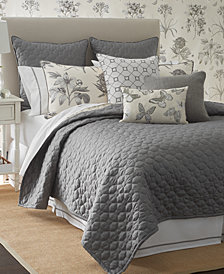 Sanderson Etching & Roses King Coverlet