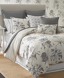 Sanderson Etching & Roses Printed 4-Pc. Full/Queen Comforter Set