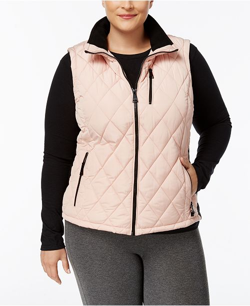c3465c750ee Calvin Klein Plus Size Diamond-Quilted Vest   Reviews - Jackets ...