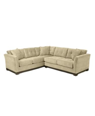 Elliot Fabric Microfiber 2Piece Sectional Sofa Custom Colors