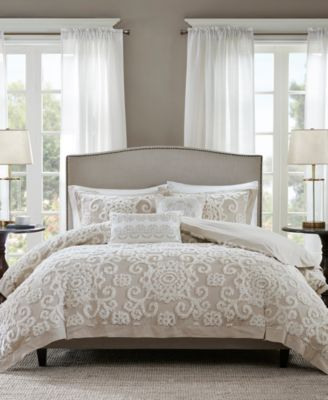 Suzanna Taupe 3-Pc. Full/Queen Comforter Mini Set