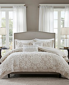 Suzanna Taupe 3-Pc. King Comforter Mini Set