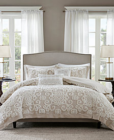 Harbor House Suzanna Taupe 3-Pc. Full/Queen Comforter Mini Set