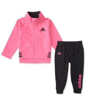 adidas 2Pc Tricot Jacket  Jogger Pants Set Toddler Girls (2T5T)