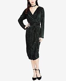 RACHEL Rachel Roy Metallic Faux-Wrap Dress