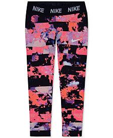 Nike Dri-FIT Floral-Print Leggings, Little Girls