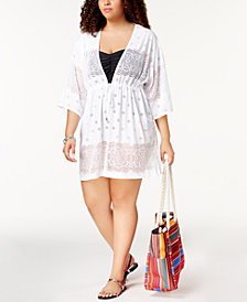 Dotti Plus Size Free Spirit Kimono Cover-Up