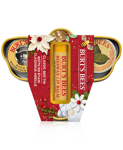 Burt's Bees 3-Pc. Classic Bee Tin Holiday Gift Set