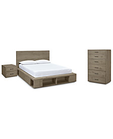 Brandon Storage Platform Bedroom Furniture, 3-Pc. Set (Queen Bed, Chest & Nightstand), Created for Macy's