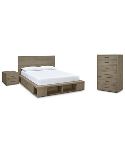Brandon Storage Platform Bedroom Furniture, 3-Pc. Set (King Bed, Chest & Nightstand), Created for Macy's