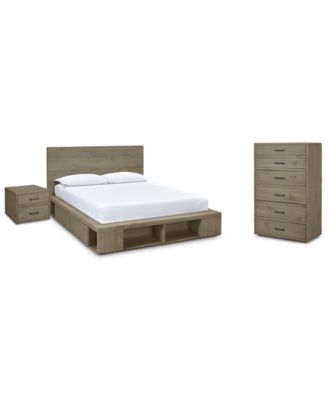 Brandon Storage Platform Bedroom Furniture, 3 Pc. Set (Queen Bed, Chest