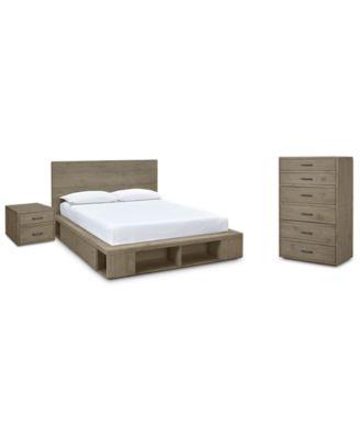 ... Furniture Brandon Storage Platform Bedroom Furniture, 3 Pc. Set (Queen  Bed, ...