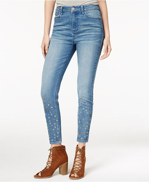 Tinseltown Juniors' Studded Skinny Jeans