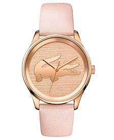 Lacoste Women's Victoria Blush Leather Strap Watch 38mm