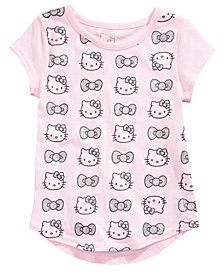 Hello Kitty Toddler Girls Glitter Bows & Heads Cotton T-Shirt