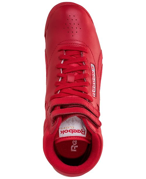 b67f1dcd00c Reebok Women s Freestyle High Top Spirit Casual Sneakers from Finish ...