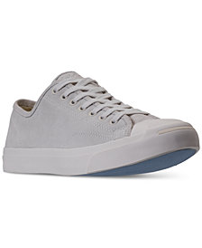 Converse Men's Jack Purcell Suede Low-Top Casual Sneakers from Finish Line
