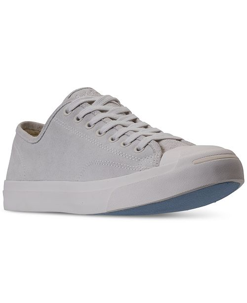 8999ef6ad2c684 ... Converse Men s Jack Purcell Suede Low-Top Casual Sneakers from Finish  ...