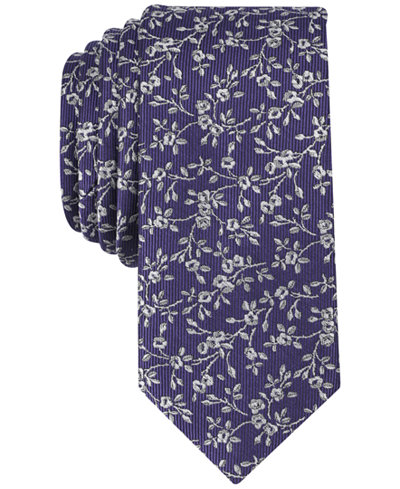 Bar III Men's Farens Floral Skinny Tie, Created for Macy's