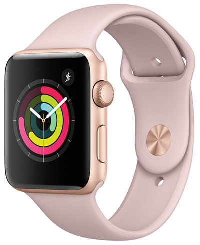 Apple Watch Series 3 (GPS), 42mm Gold Aluminum Case with Pink Sand Sport Band