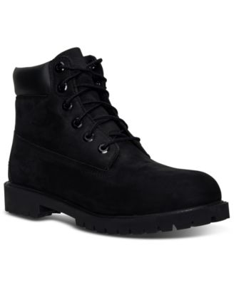 All Black Timberlands - Macy's