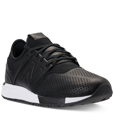 new balance men's 247 leather casual sneakers from finish