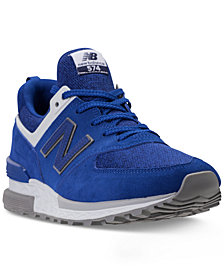 New Balance Men's 574 Suede Casual Sneakers from Finish Line