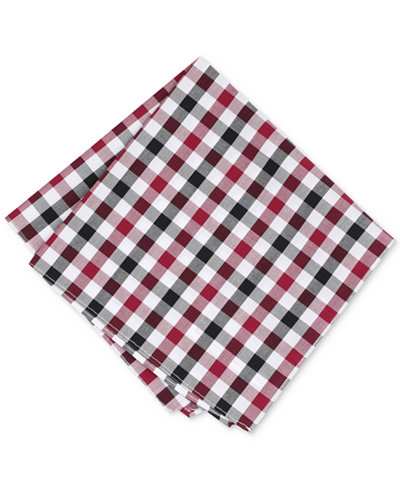 Bar III Men's Cottica Gingham Pocket Square, Created for Macy's