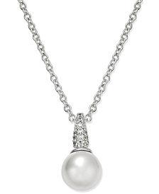 Danori Silver-Tone Imitation Pearl Pendant Necklace, Created for Macy's