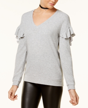 Almost Famous Juniors Ruffled Cozy Sweater