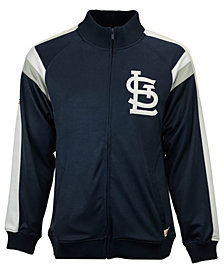 Dynasty Men's St. Louis Cardinals Poly Ponte Track Jacket