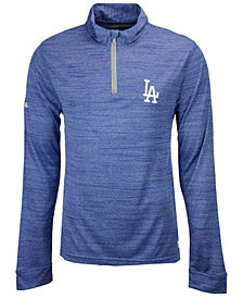 Dynasty Men's Los Angeles Dodgers Poly Twist Mock Quarter-Zip Pullover