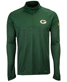 Under Armour Men's Green Bay Packers Twist Tech Quarter-Zip Pullover