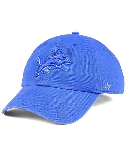 '47 Brand Detroit Lions Triple Rush CLEAN UP Cap