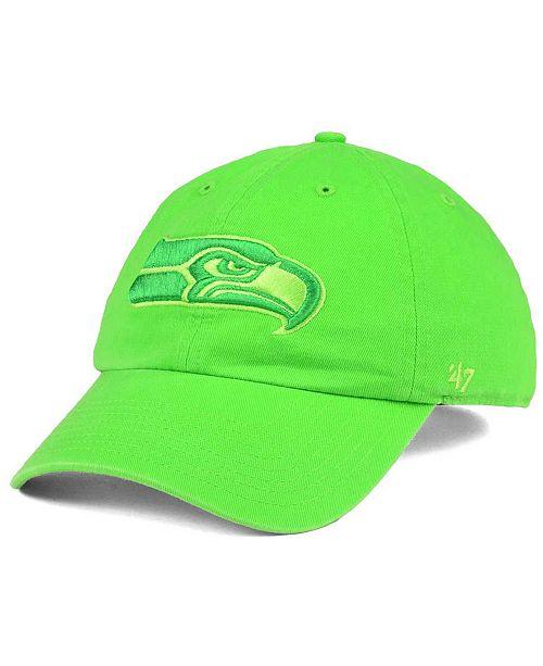 '47 Brand Seattle Seahawks Triple Rush CLEAN UP Cap