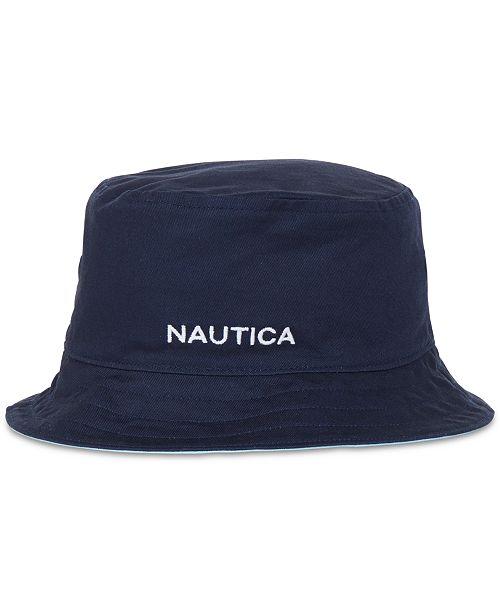 9088bc8b5f8 Nautica Men s Reversible Bucket Hat  Nautica Men s Reversible Bucket ...