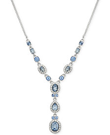 Givenchy Multi-Crystal and Pavé Y-Neck Necklace