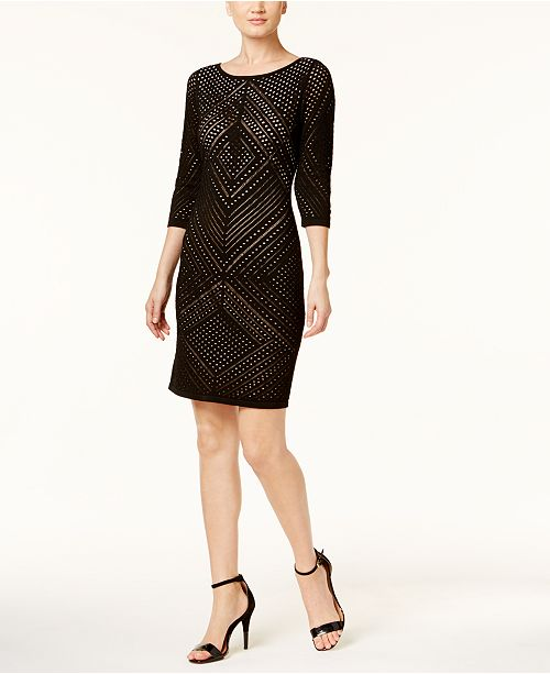 7373dfd23bb Calvin Klein Perforated Sweater Dress  Calvin Klein Perforated Sweater Dress  ...