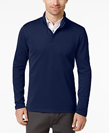 Alfani Men's Ottoman Quarter-Zip Stretch Knit, Created for Macy's
