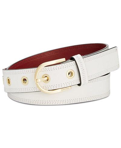 Calvin Klein Stitched Leather Belt