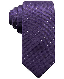 Alfani Men's Parkside Dot Silk Slim Tie, Created for Macy's