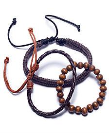 Rogue Accessories Men's 3-Pc. Toas Bracelet Set