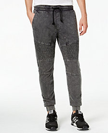 American Rag Men's Acid Wash Knit Jogger Pants, Created for Macy's