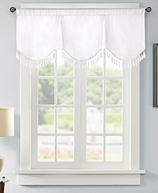 "Evelyn 50"" x 21"" Faux-Silk Scallop Window Valance"