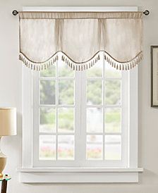 """Madison Park Evelyn 50"""" x 21"""" Faux-Silk Scallop Window Valance"""