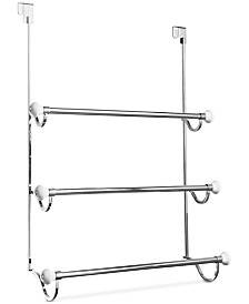 Interdesign York Chrome 3-Bar Shower Door Towel Rack
