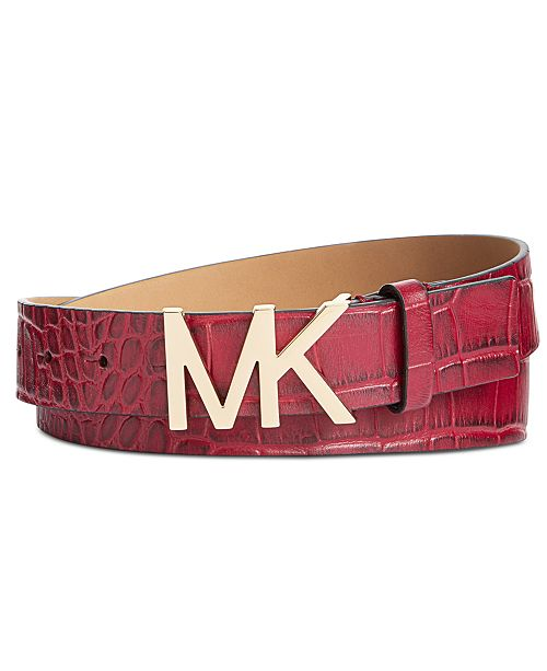 e681eb65414 ... where to buy michael kors croc embossed logo buckle belt handbags  accessories 0fb79 3c34e