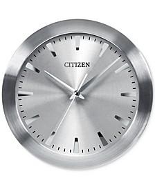 Gallery Silver-Tone Metal Wall Clock
