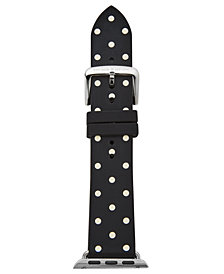 kate spade new york Black & White Dot Silicone Apple Watch® Strap