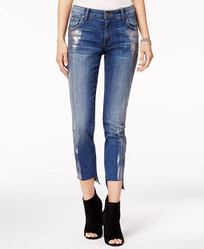 3d1c49835960 STS Blue Cotton Metallic-Coated Straight-Leg Jeans - Juniors Jeans ...